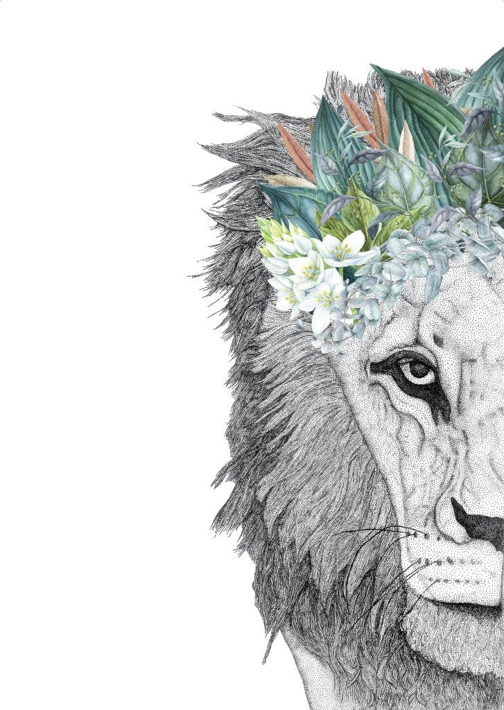 Dots By Donna, Leo the Lion with Foliage Crown - Hello Little Birdie