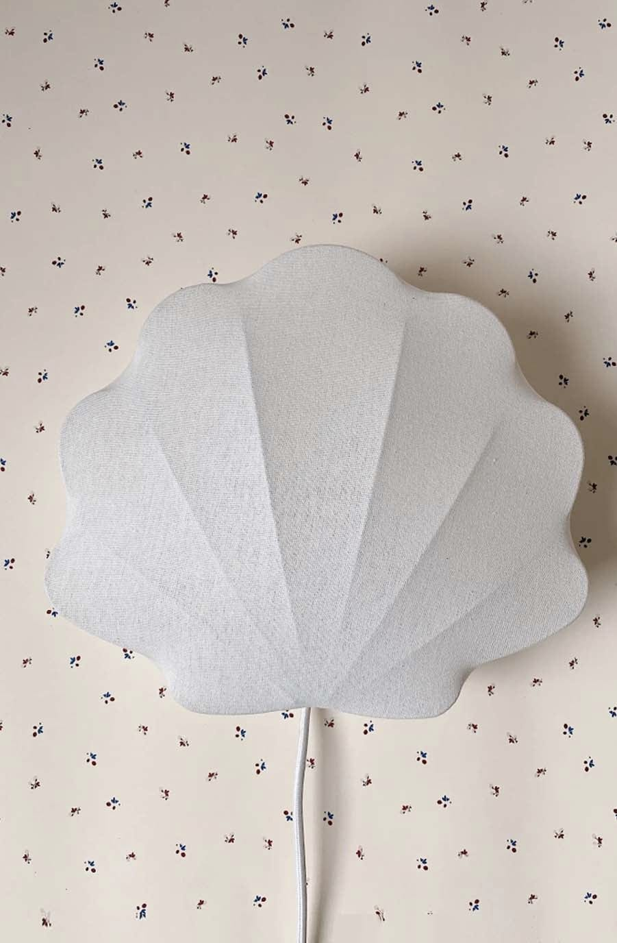 Konges Sløjd Fabric Lamp Clam, Off White - Hello Little Birdie