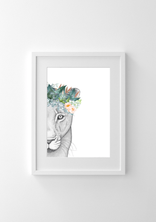 Dots By Donna, Linda the Lioness with Flower Crown - Hello Little Birdie