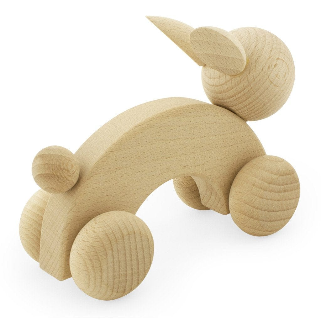 Miva Vacov Wooden Push Along, Rabbit - Hello Little Birdie