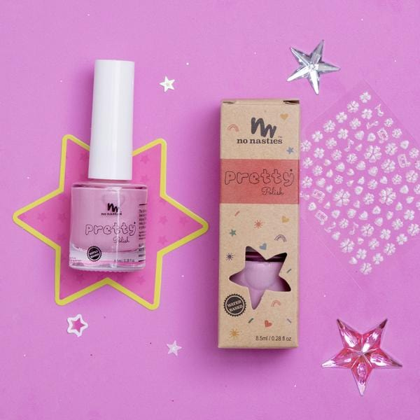 No Nasties, Water-Based, Peelable Nail Polish for Kids, Pink - Hello Little Birdie