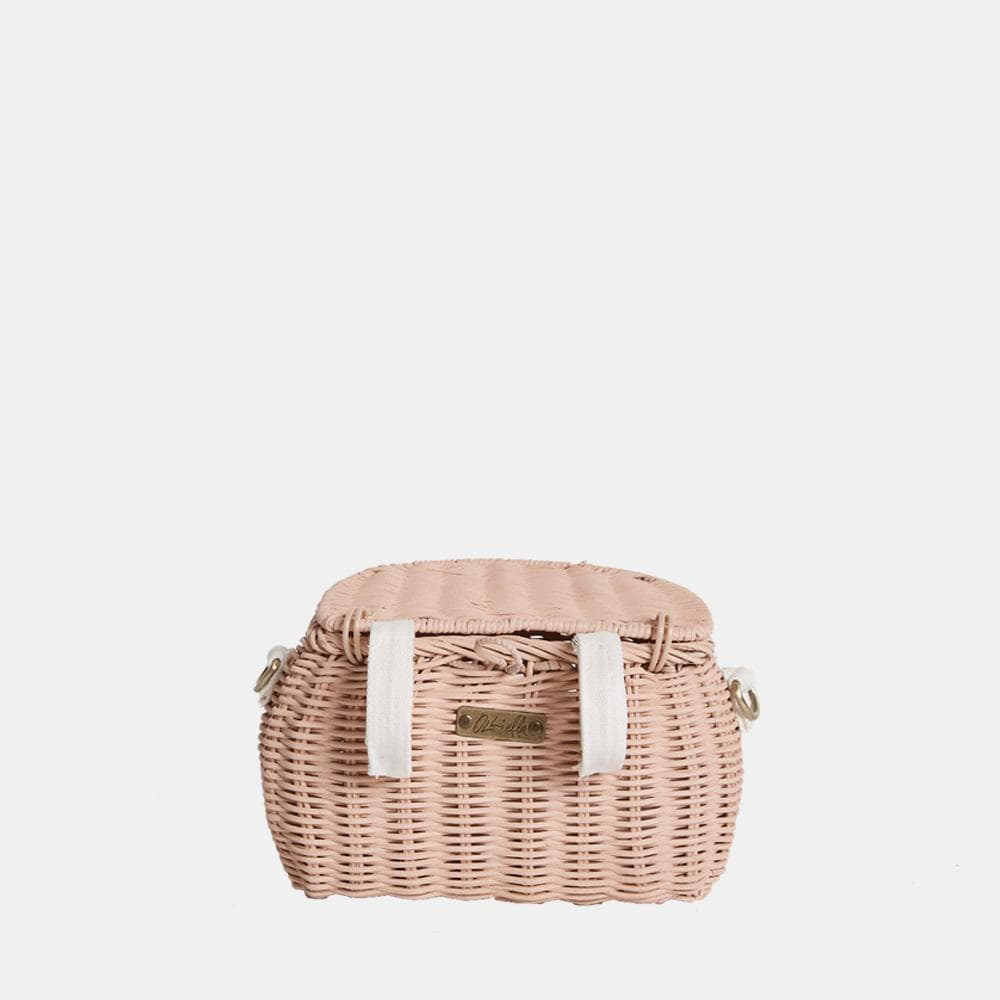 Olli Ella Mini Chari Bag, Rose - Hello Little Birdie