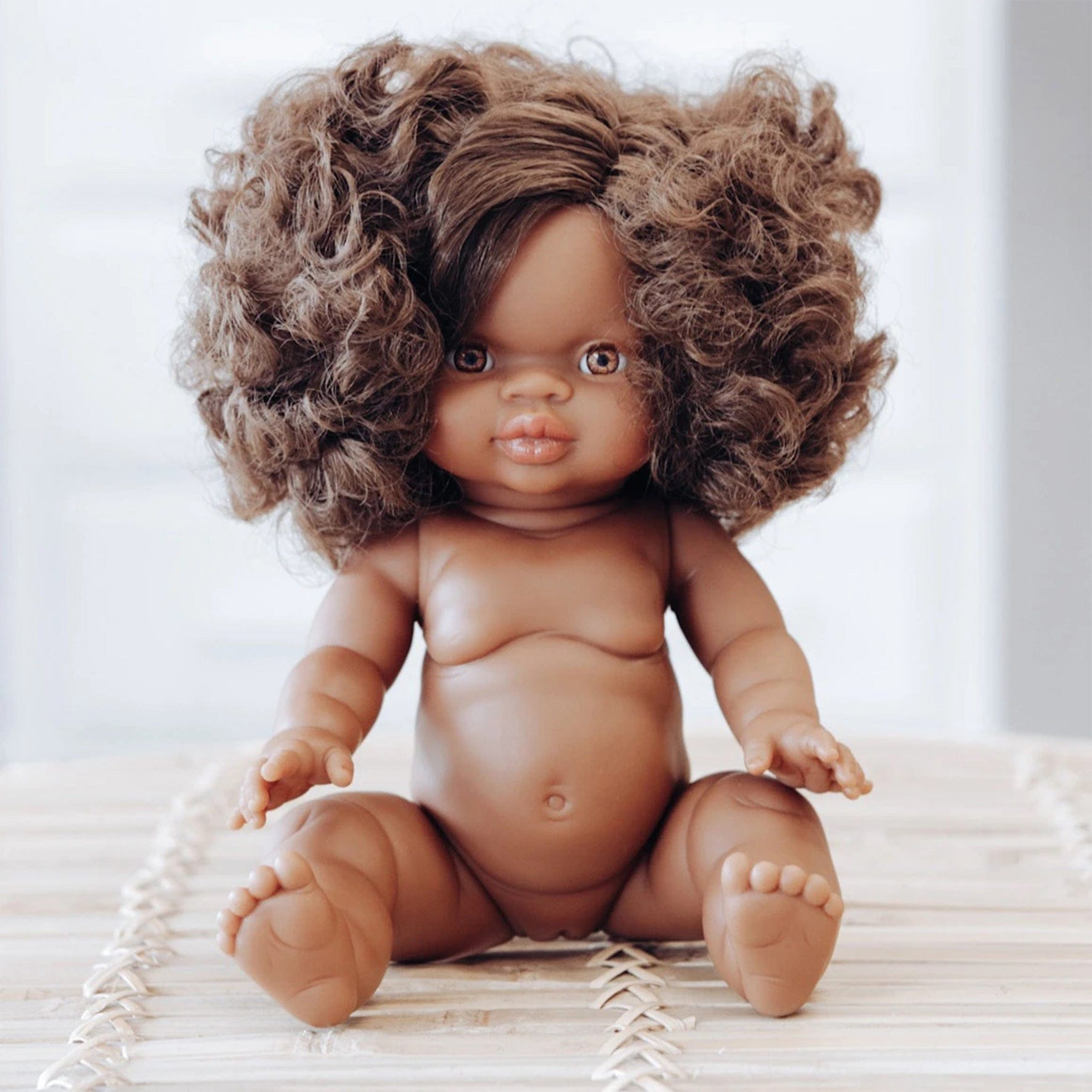 Paola Reina Gordis Doll African Girl, Marley - Hello Little Birdie