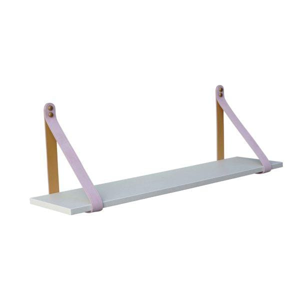 PINK SUEDE STRAP SHELF,  ALL SHELF OPTIONS