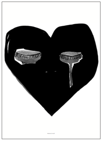 CRYING HEART PRINT, 50 x 70CM