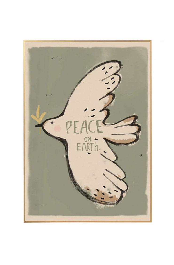 Studio Loco Wall Poster, Peace Bird 50 x 70cm - Hello Little Birdie