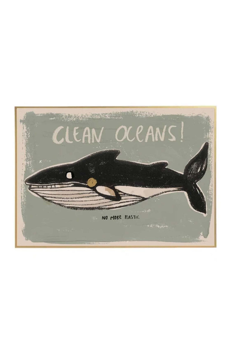 Studio Loco Wall Poster, Clean Oceans 50 x 70cm - Hello Little Birdie