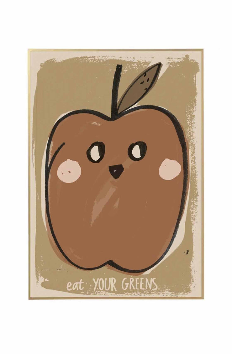 Studio Loco Wall Poster, Eat Your Greens 50 x 70cm - Hello Little Birdie
