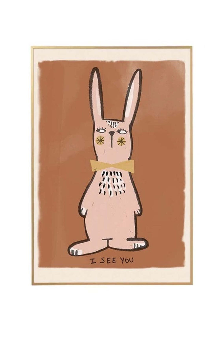 Studio Loco Wall Poster, I See You Rabbit 50 x 70cm - Hello Little Birdie