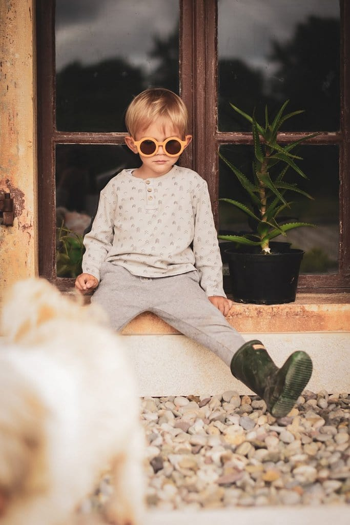 Grech & Co Sustainable Kids Sunglasses, Golden - Hello Little Birdie