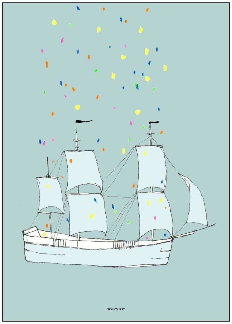 PAX AND HART THIS SHIP HAS SAILED POSTER, 50 x 70CM
