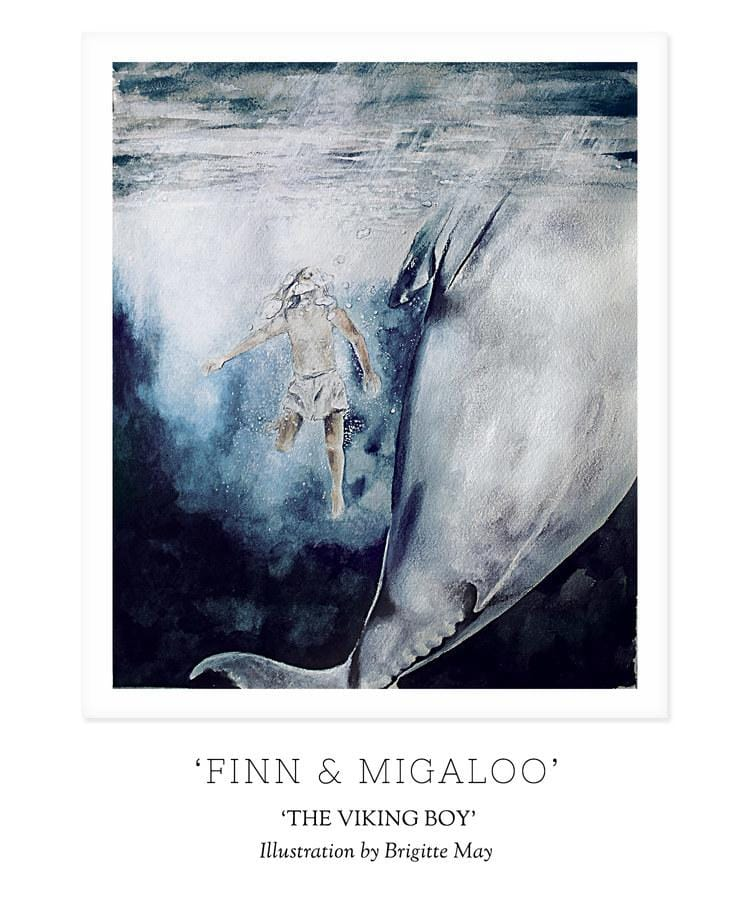 Unclebearskin Productions, THE VIKING BOY - 'FINN & MIGALOO' Print - Hello Little Birdie