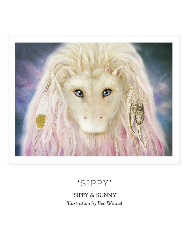 Unclebearskin Productions, SIPPY & SUNNY - 'SIPPY' Print - Hello Little Birdie