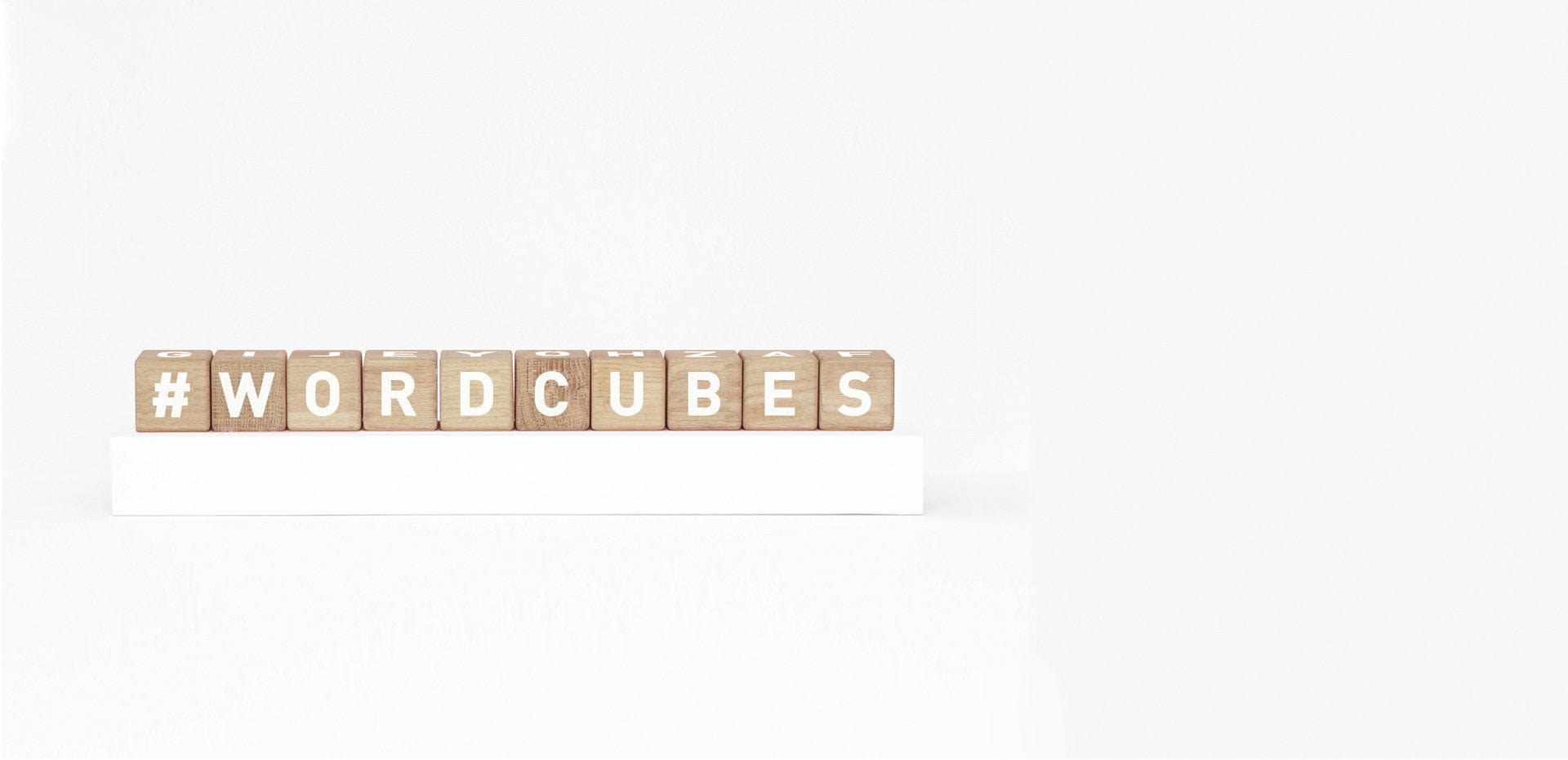 Maison Deux, Alphabet Word Cubes White - Hello Little Birdie