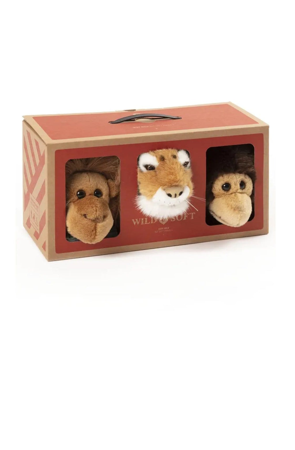 Wild and Soft Jungle Box, Mini Tiger, Monkey & Orang-Utan (PRE-ORDER MARCH) - Hello Little Birdie
