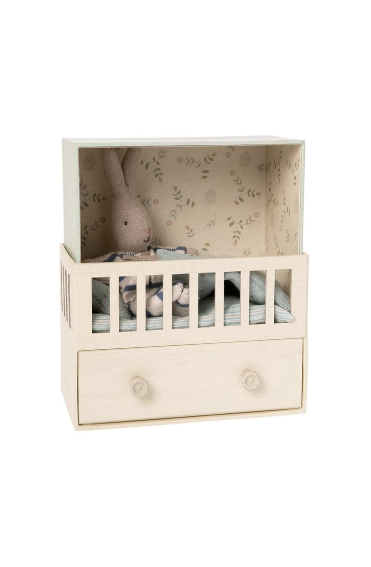 Maileg Baby Room With Micro Rabbit - Hello Little Birdie