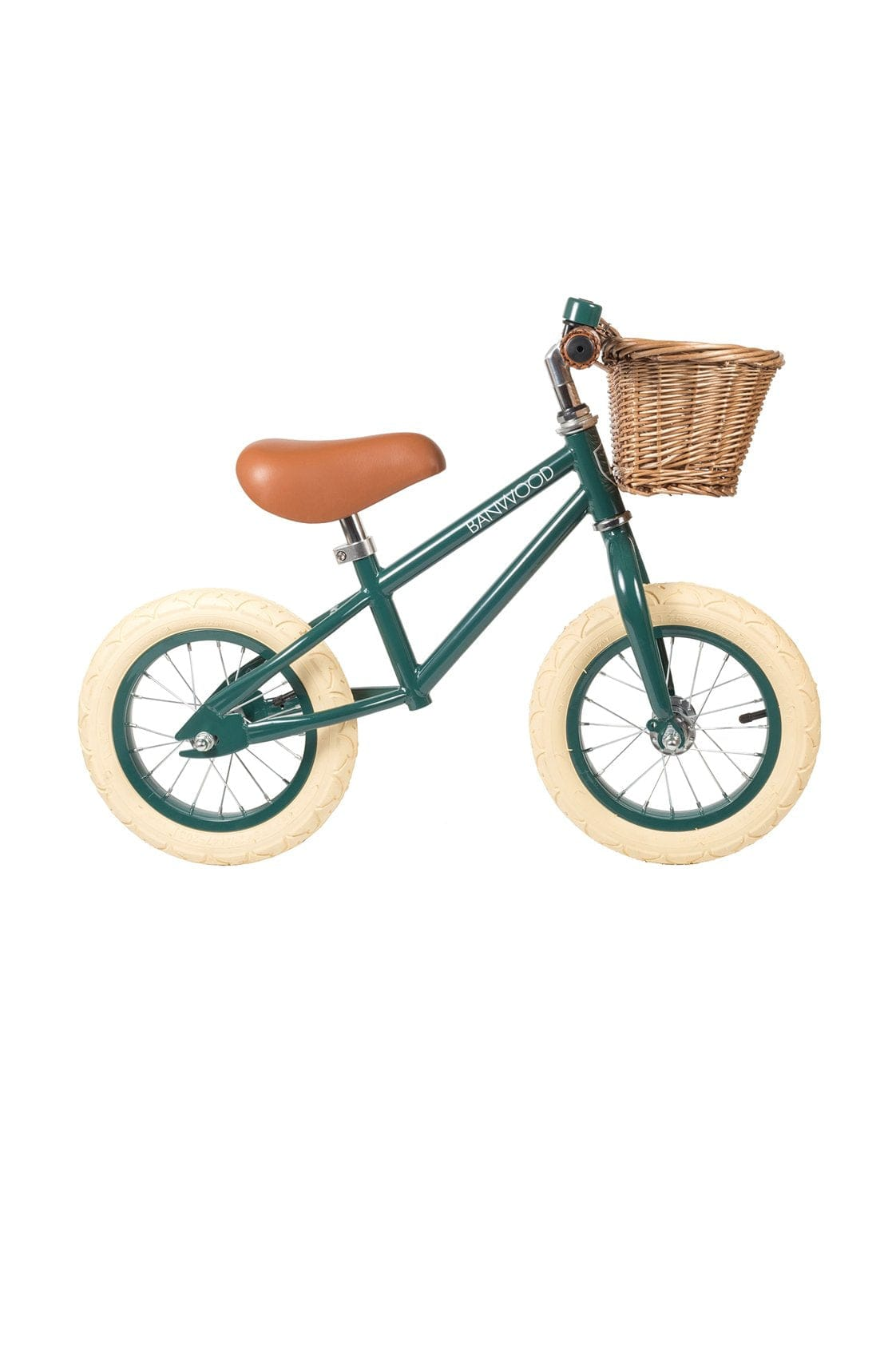 BANWOOD FIRST GO BALANCE BIKE, DARK GREEN - Hello Little Birdie