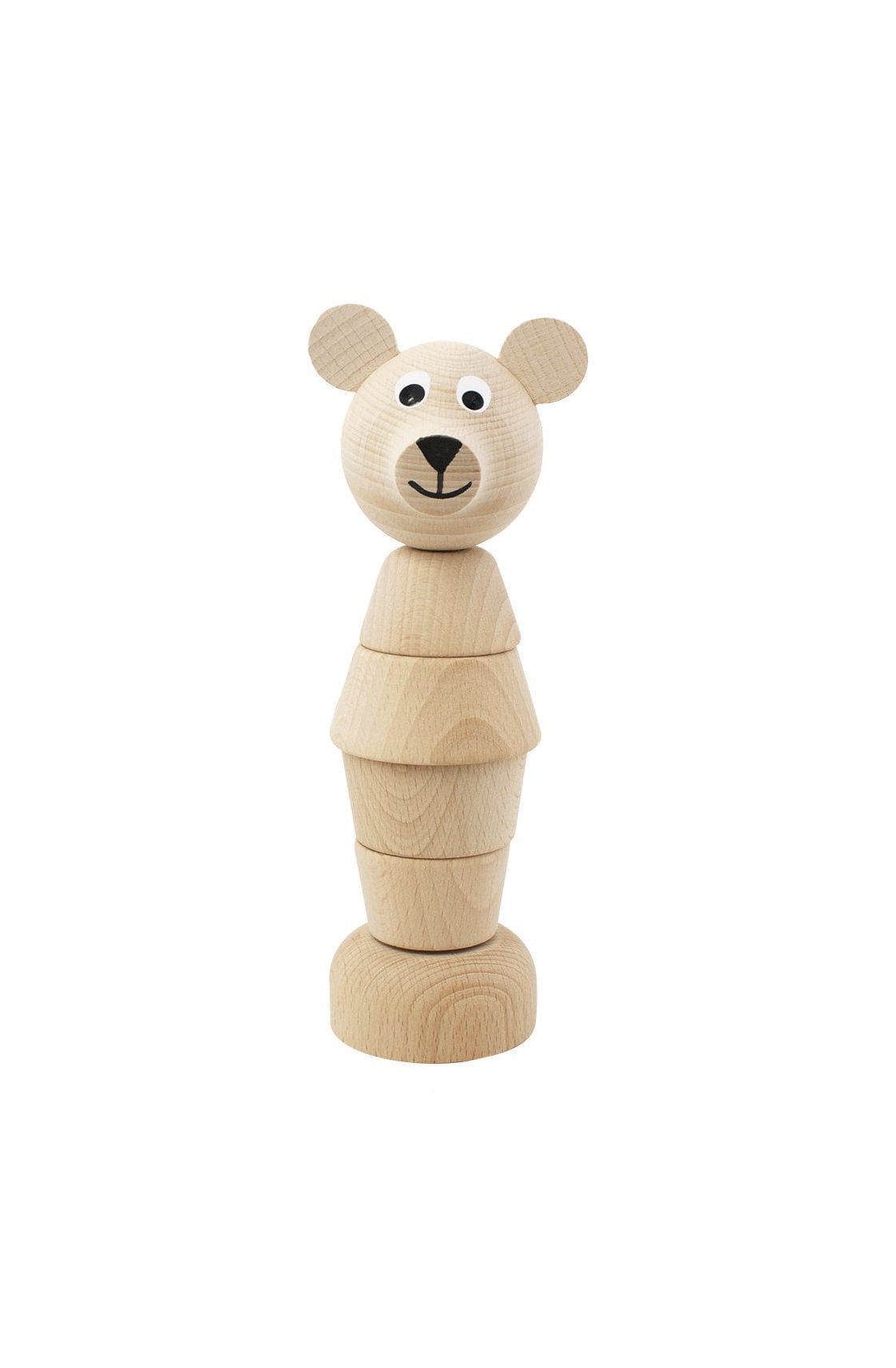 Miva Vacov Wooden Bear Stacking Puzzle, Edmond - Hello Little Birdie