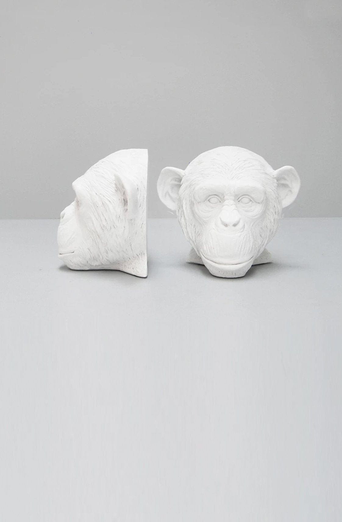 WHITE MOOSE MONKEY BOOKENDS, WHITE - Hello Little Birdie