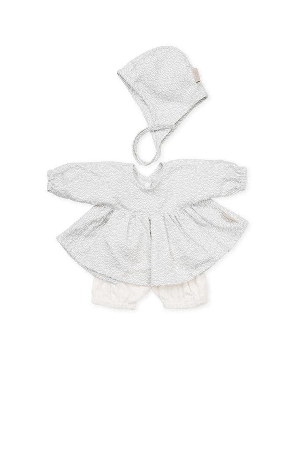 CAM CAM Doll's Clothing Set & Bonnet Grey Wave - Hello Little Birdie