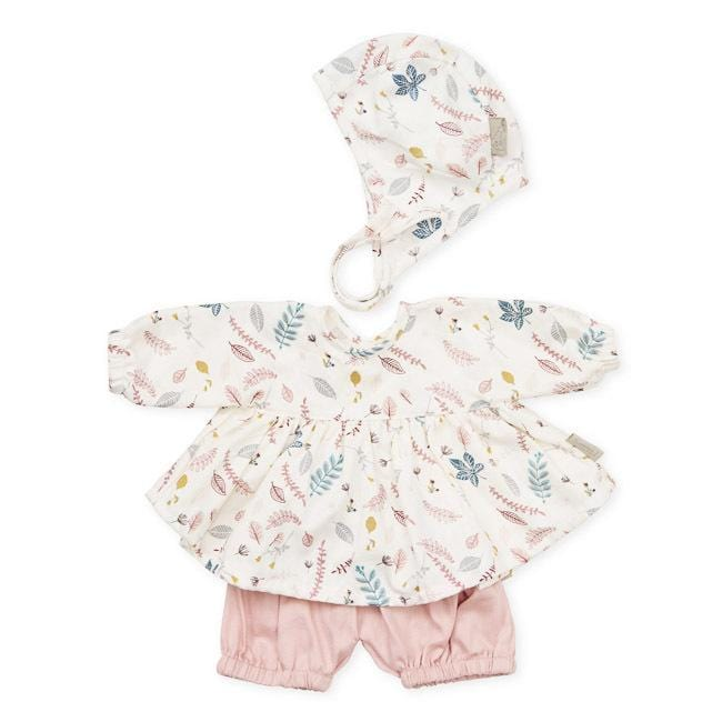CAM CAM Doll's Clothing Set & Bonnet Pressed Leaves Rose - Hello Little Birdie