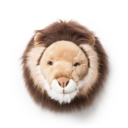 Wild and Soft Plush Wall Head Cesar the Lion (PRE-ORDER AUG)