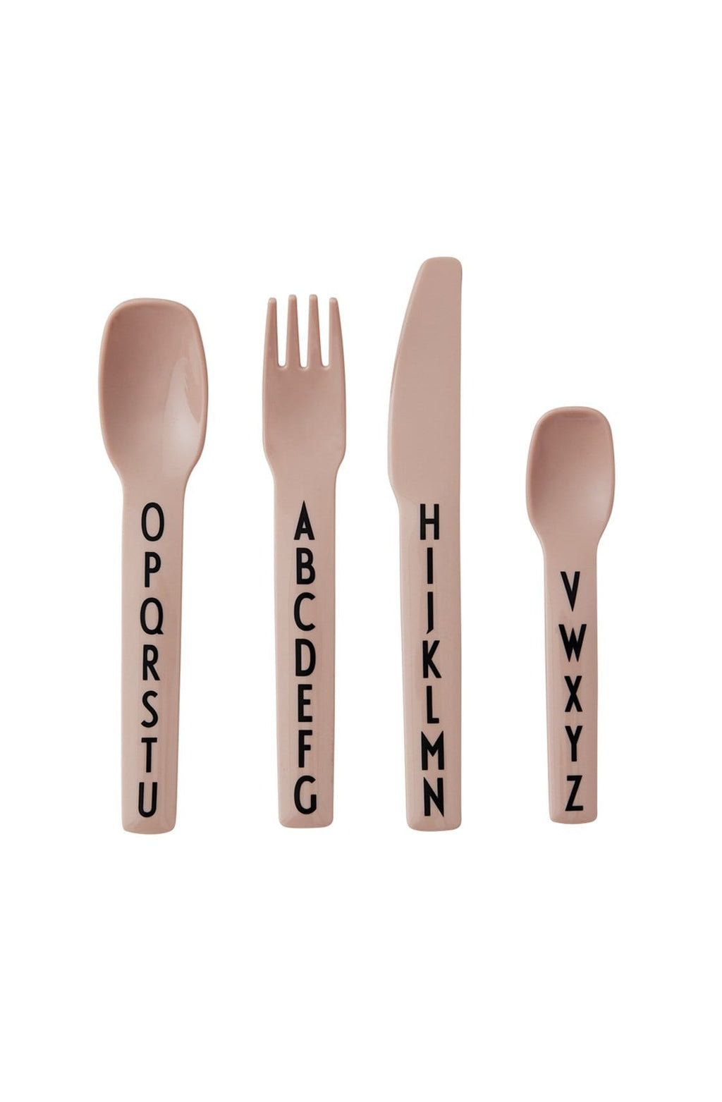Design Letters Melamine Kids Cutlery Set, Nude - Hello Little Birdie