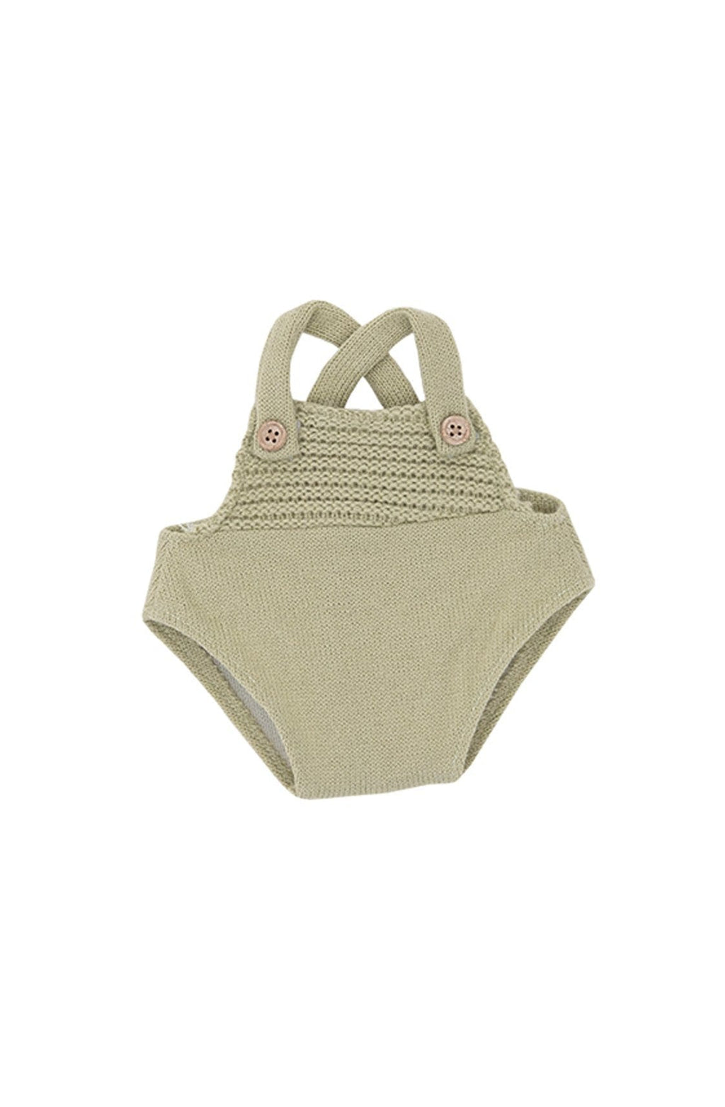 Olli Ella Dinkum Dolls Single Romper, Sage Green - Hello Little Birdie