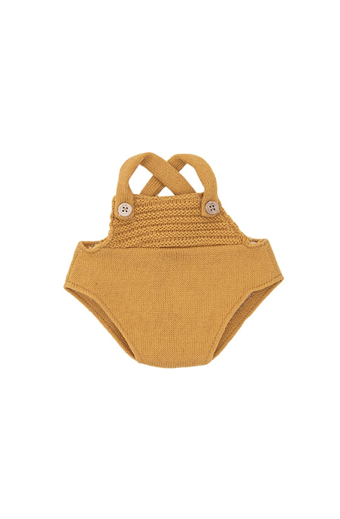Olli Ella Dinkum Dolls Single Romper, Mustard - Hello Little Birdie