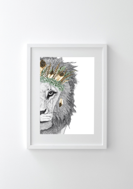 Dots By Donna, Leo the Lion with Luxe Feather Crown - Hello Little Birdie
