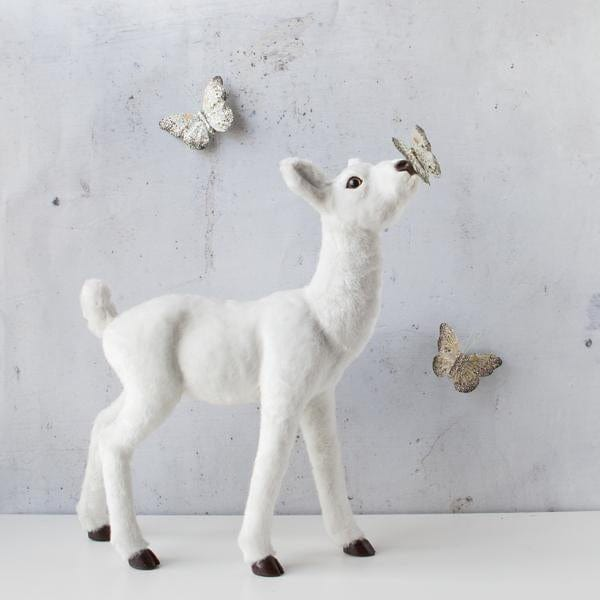 Down To The Woods, Life Size Fawn White - Hello Little Birdie