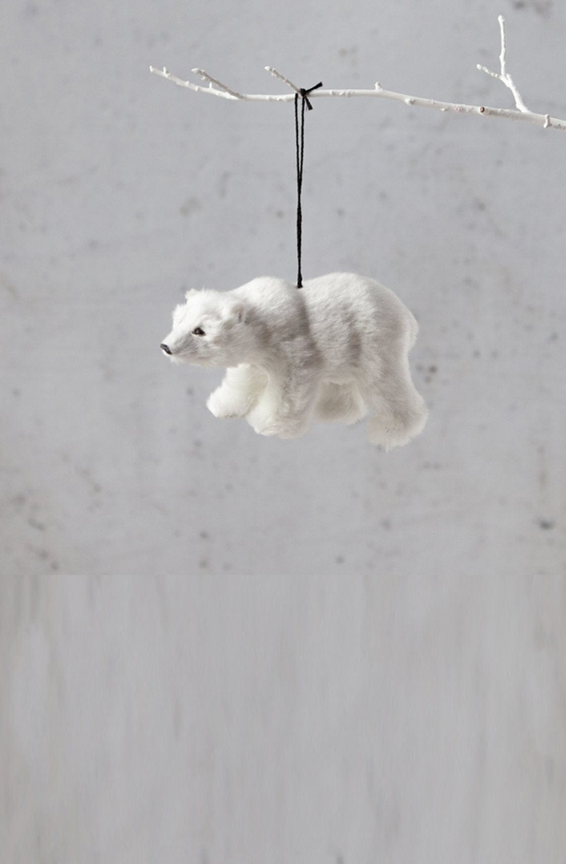 Down To The Woods, BEAR Hanging WHITE - Hello Little Birdie