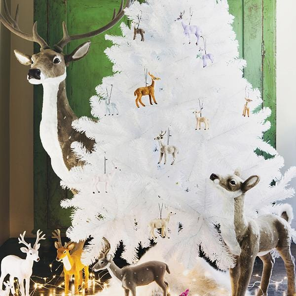 Down To The Woods, Reindeer Decoration White - Hello Little Birdie