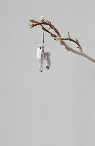 Down To The Woods, Fawn Decoration Grey - Hello Little Birdie