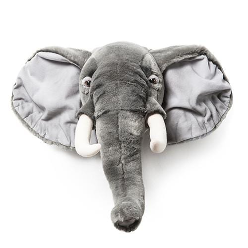 Wild and Soft Plush Wall Head George the Elephant