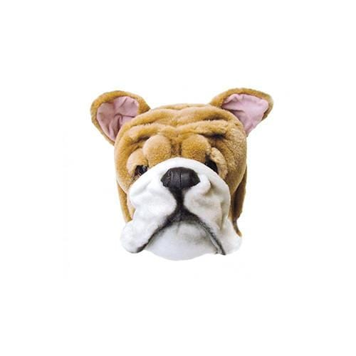 Wild and Soft Plush Wall Head Matthew the English Bulldog