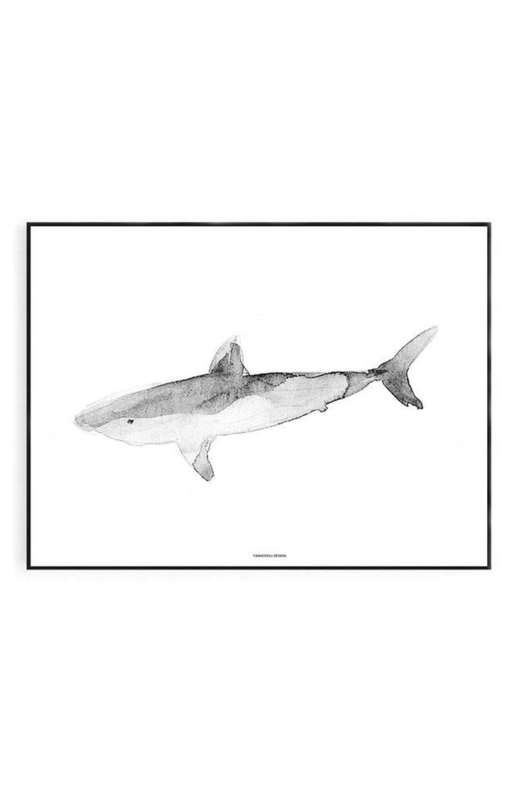 Fahionell Shark Print 40 x 50cm - Hello Little Birdie