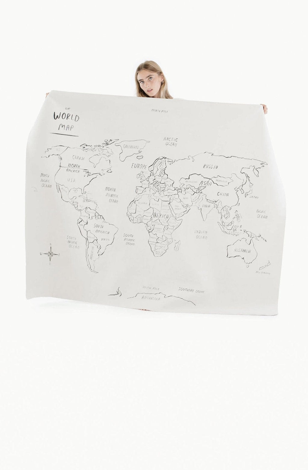 Gathre World Map Midi Plus (PRE-ORDER MARCH) - Hello Little Birdie