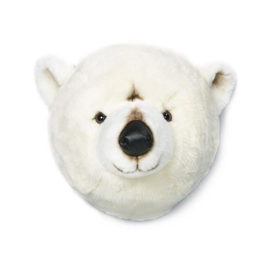 Wild and Soft Plush Wall Head Basile Polar Bear