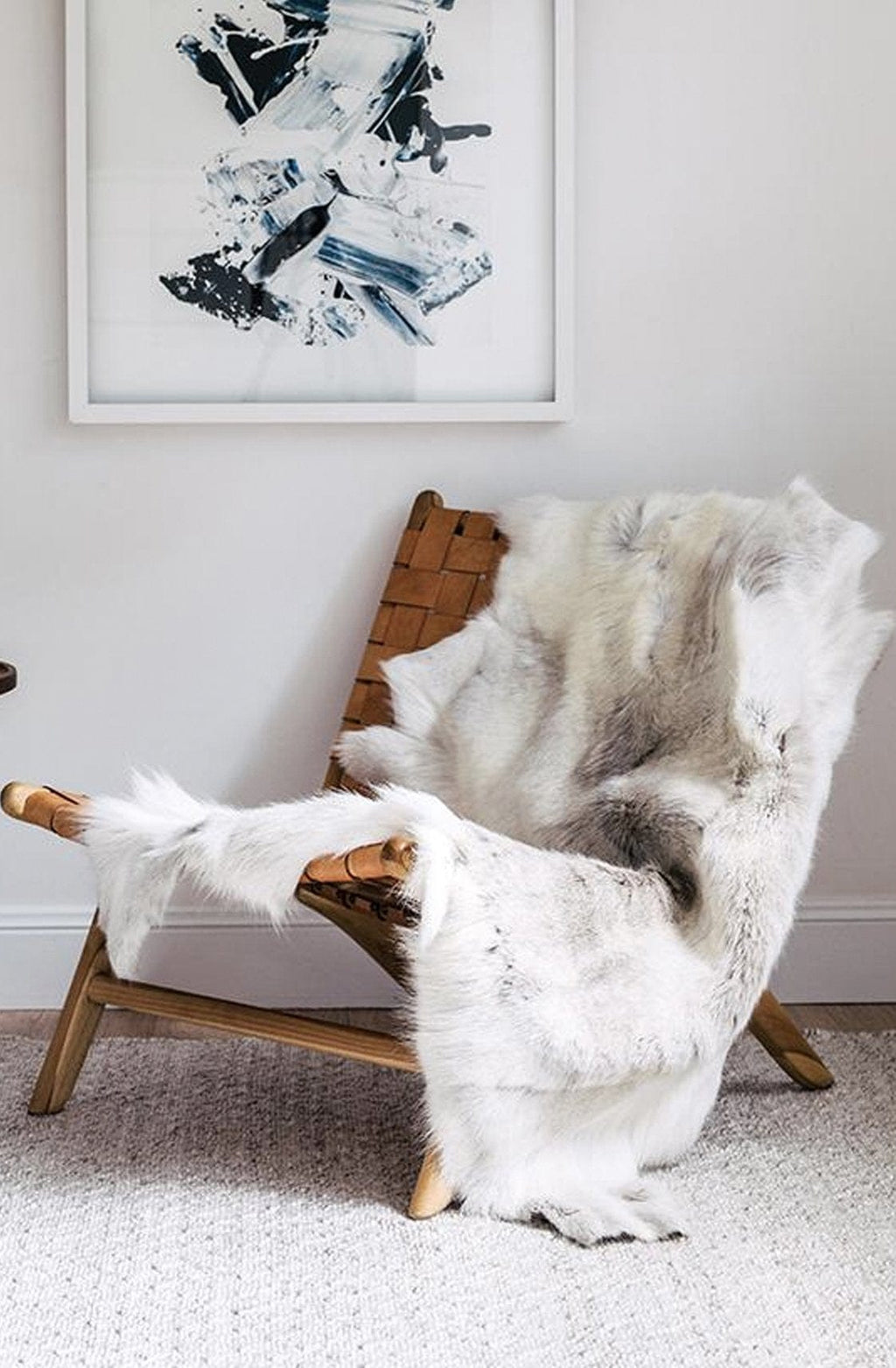 Hides of Excellence Reindeer Hide Rug, Light