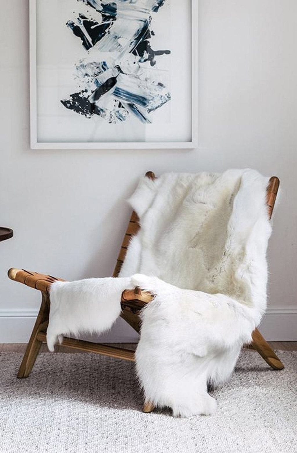 Hides of Excellence Reindeer Hide Rug, Albino - Hello Little Birdie