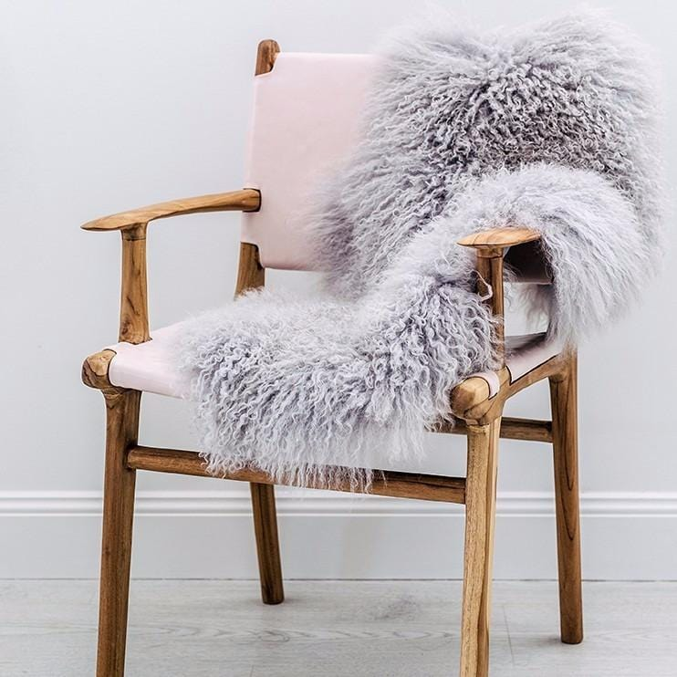 Mongolian Sheepskin Rug - Light Grey - Hello Little Birdie