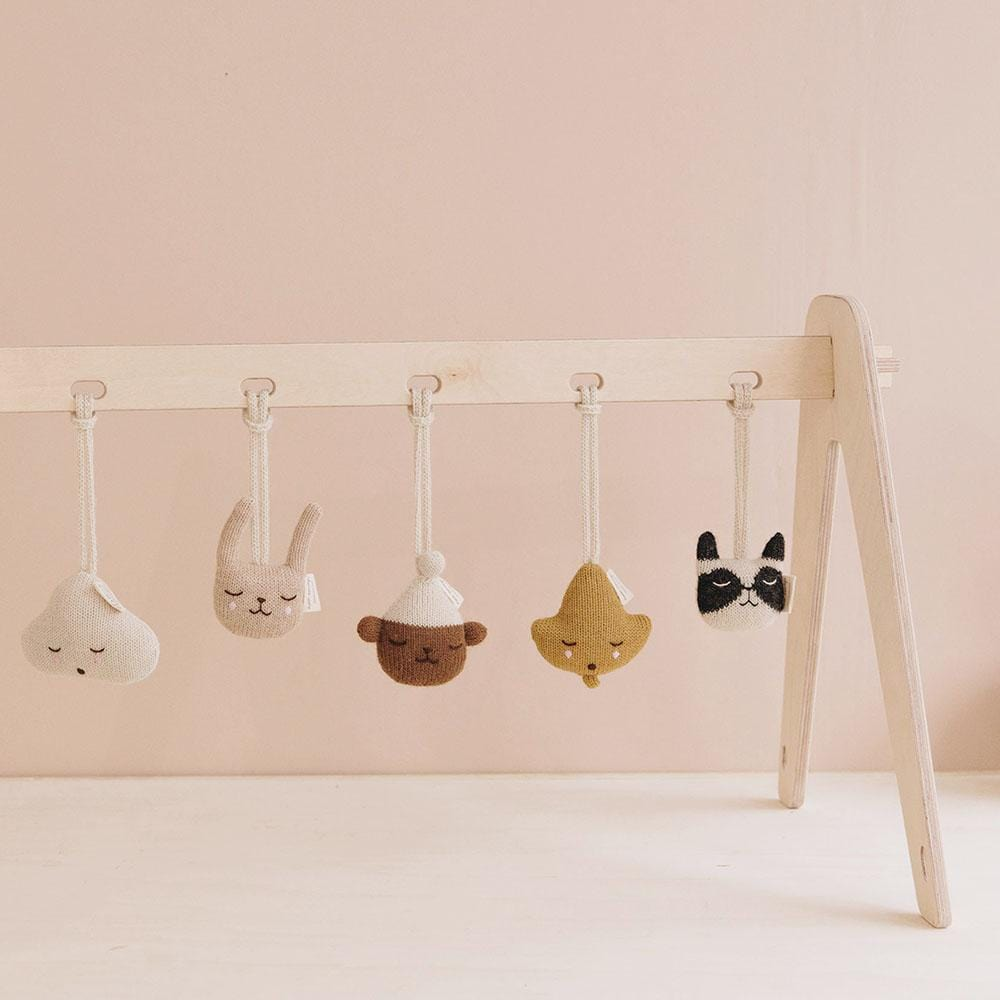 Main Sauvage rabbit hanging rattle (PRE-ORDER SEP)