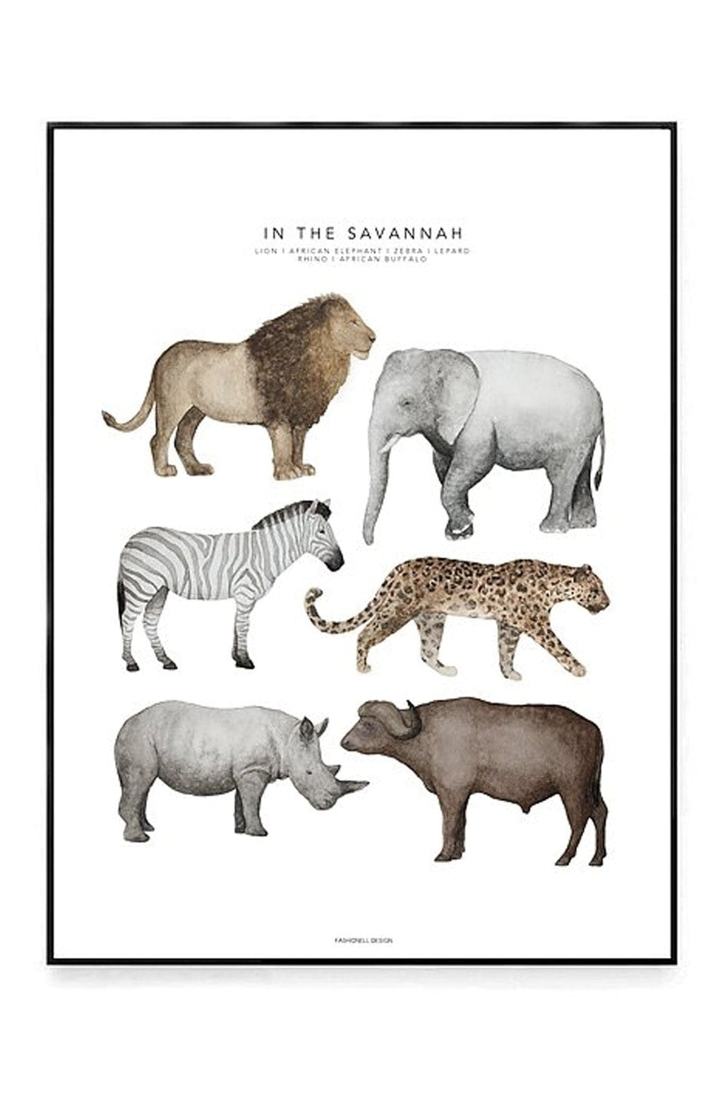 In The Savannah 50 x 70cm (PRE-ORDER JUNE)
