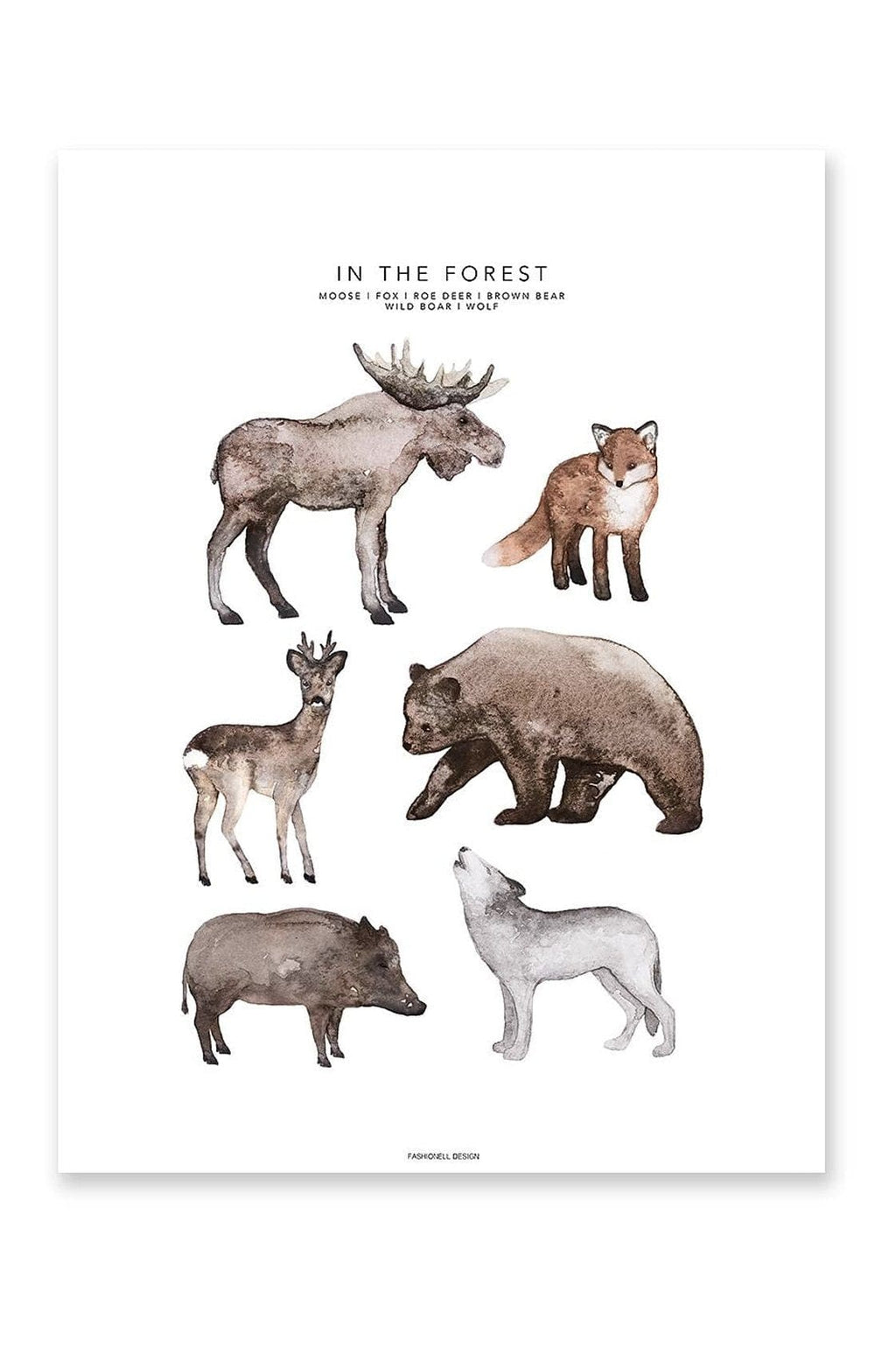 In The Forest Print 50 x 70cm