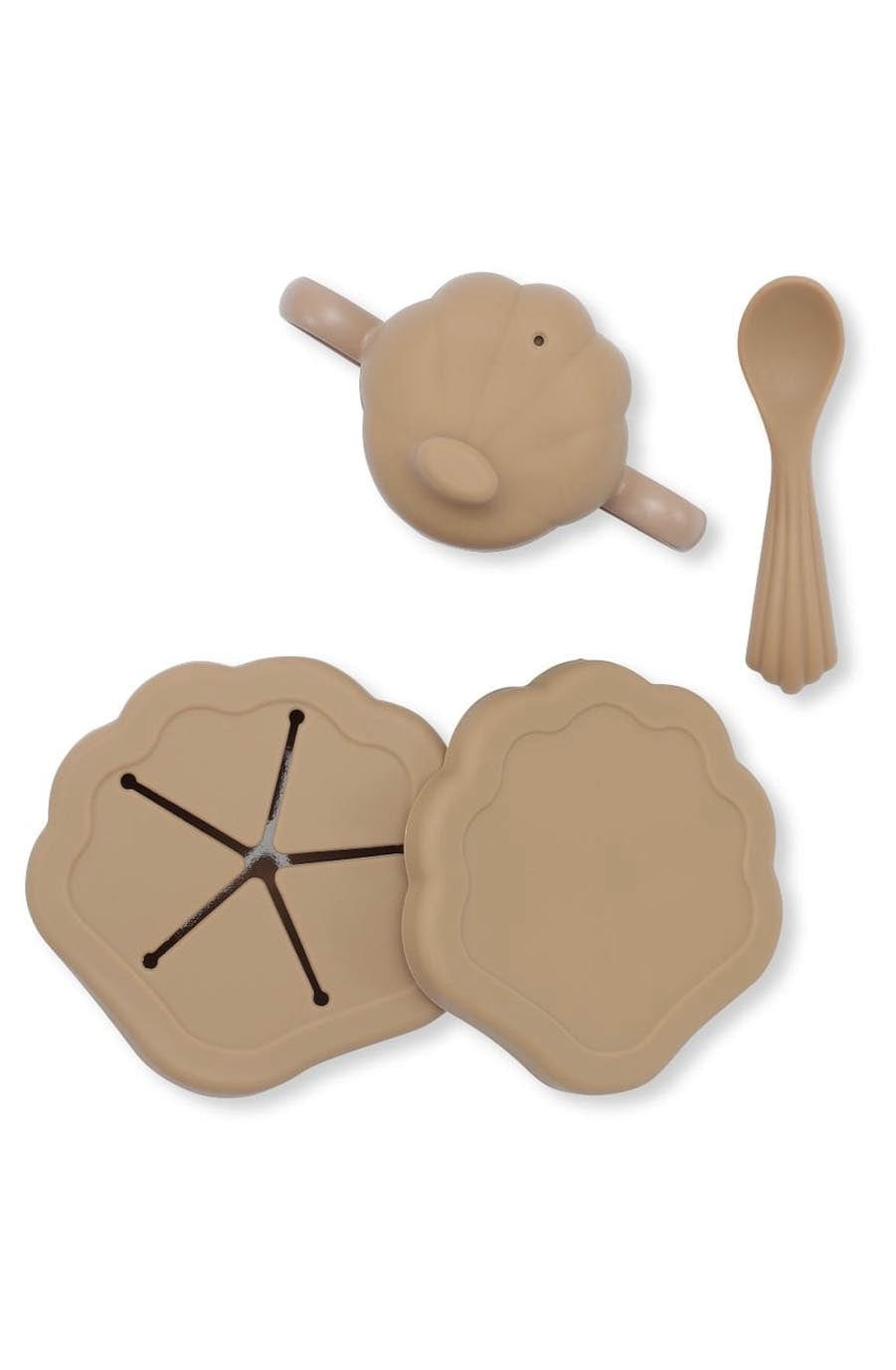 Konges Sløjd Silicone Clam Set, Terracotta - Hello Little Birdie