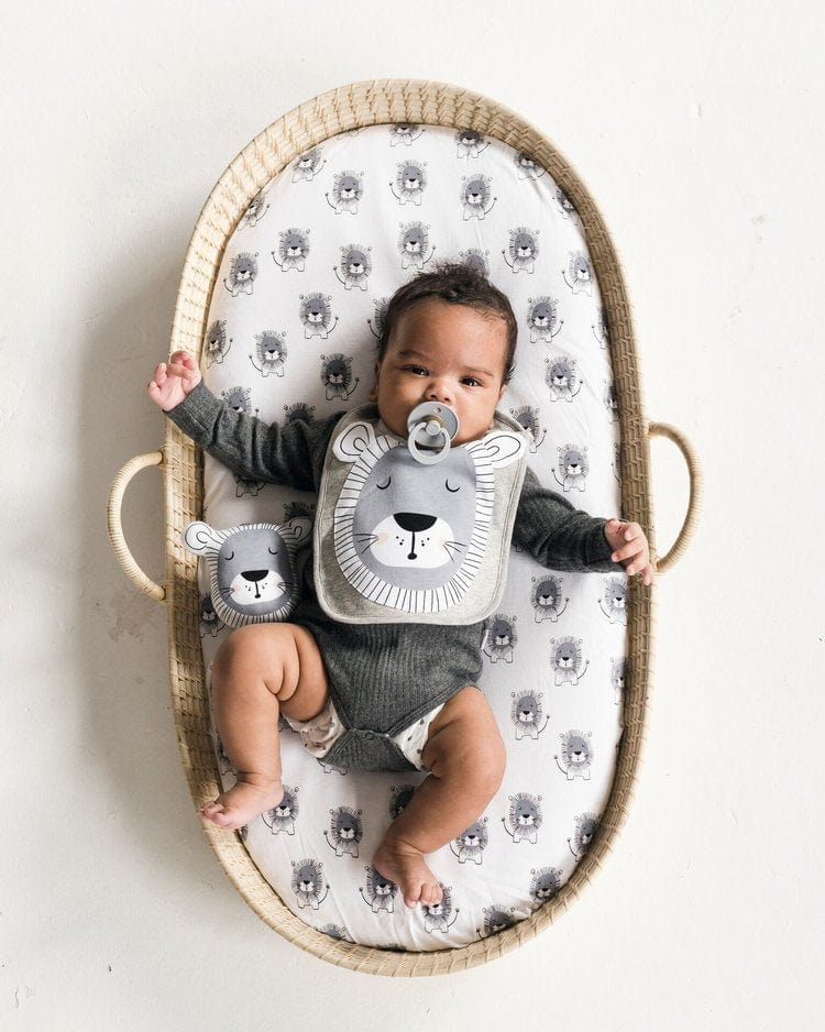 Mister Fly Lion Jersey Bassinet Sheet Twin Pack - Hello Little Birdie
