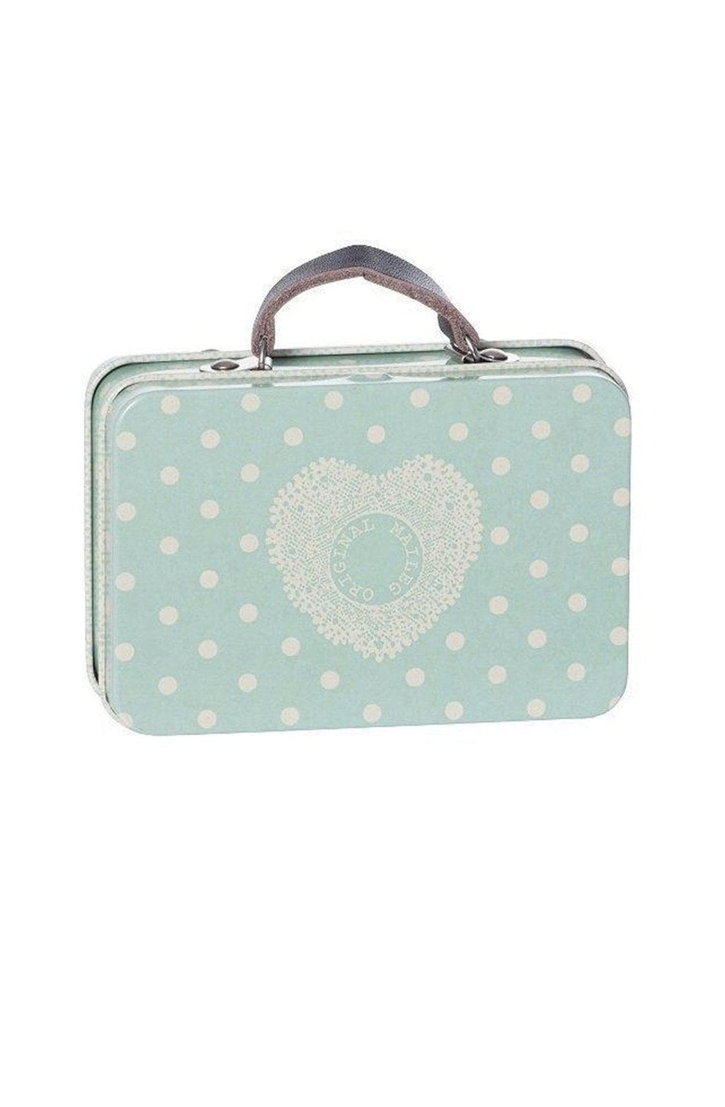 Maileg Metal Suitcase blue big dots