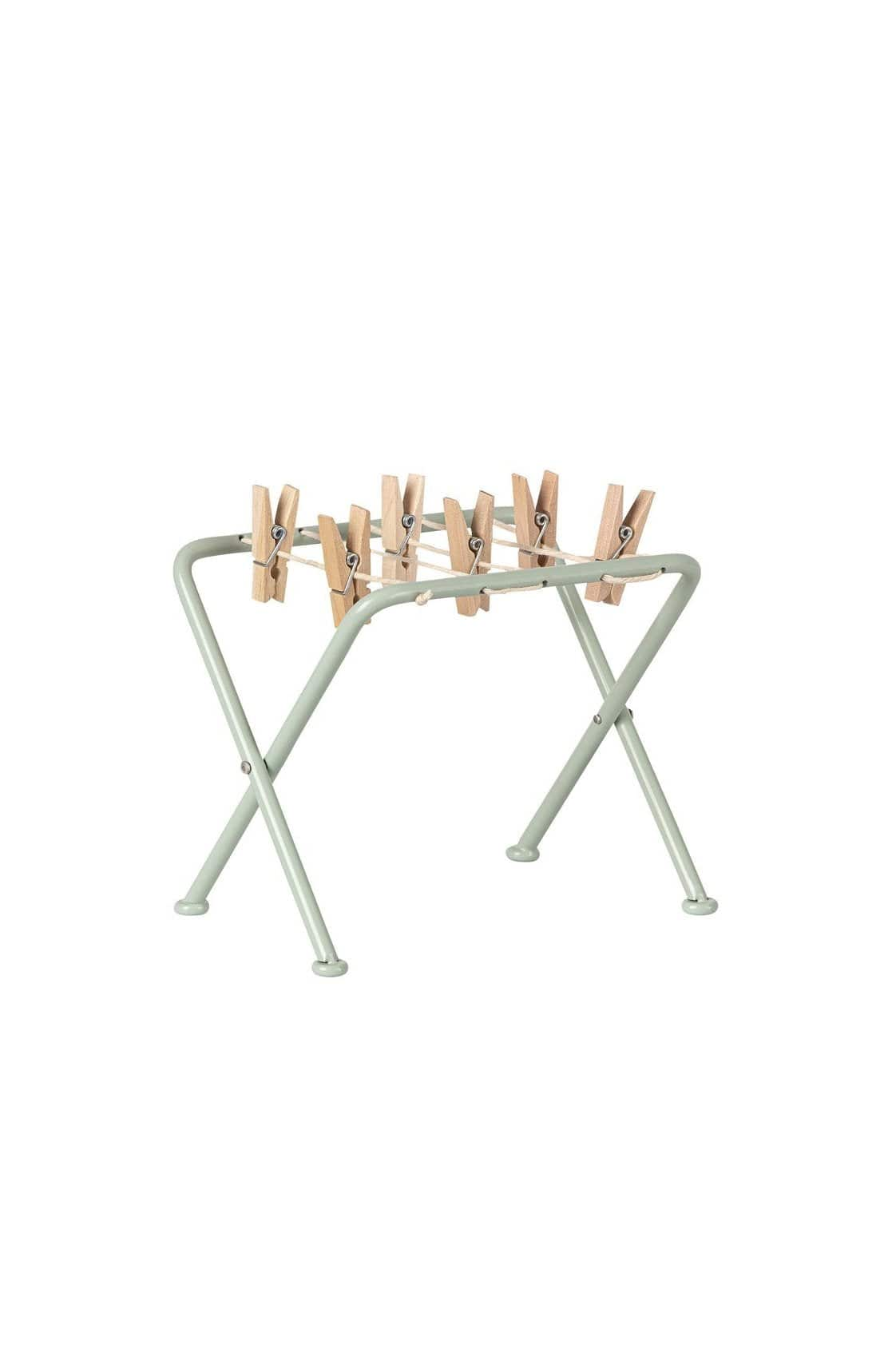MAILEG METAL DRYING RACK CLOTHES POST WITH PEGS MINT PLAY KIDS Maileg