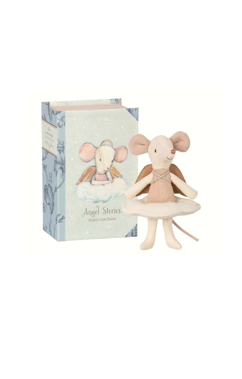 Maileg Angel Mouse Big Sister in Book - Hello Little Birdie